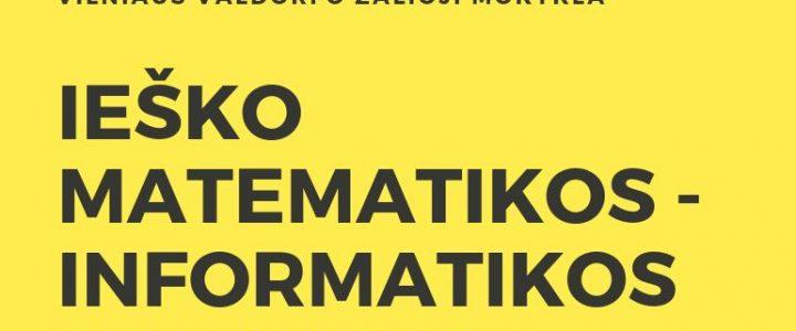 Ieškome matematikos – informatikos mokytojo