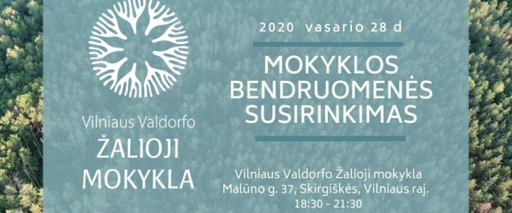 Mokyklos bendruomenės susirinkimas 2020