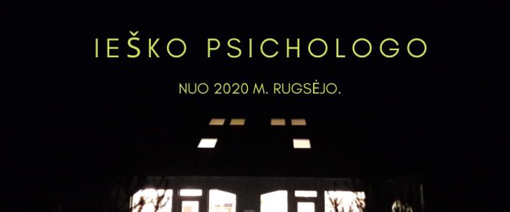 Kviečiame dirbti psichologę (-ą)