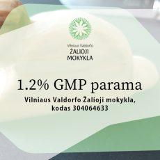Kviečiame skirti 1,2% paramą nuo 2020m. sumokėto GPM
